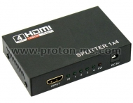 HDMI Splitter Full HD 1080P 3D, 1 x 4