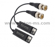 Single channel passive HD-CVI/TVI/AHD video balun, transceiver с кабел