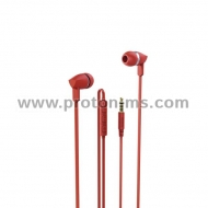 """Basic+"" In-Ear Headset HAMA 137442, Microphone, Red"