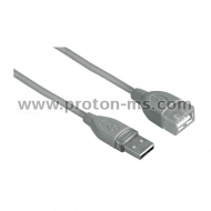 USB 2.0 Extension cable HAMA 45027 USB-A Socket - USB-B Plug, 1.8 m, 1 star, shielded