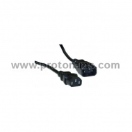 Power extension supply cable Fortron, 3-pin, Black