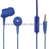 Earphones HAMA Basic 137437, Microphone, In-Ear, Blue