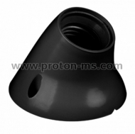 E27 Plastic Electric Holder, Wall, Black