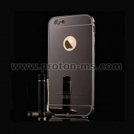 iPhone 7 / 8 Plus Luxury Mirror Case Aluminum Metal Frame Plating Back Cover Phone Cases for iPhone