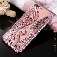 iPhone 7 Case Luxury Bling Swan Peacock Case