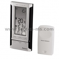 Electronic Weather Station HAMA EWS-280 104931, Black/Silver