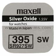 Button Battery Silver MAXELL SR-927 SW ;395;399;AG7 1.55V