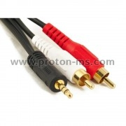 Audio 2 RCA Male Plugs - 3.5 mm Male Plug, Stereo, 1.5m
