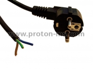 Power Cable 3x1mm², Black 1.5m