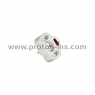 3-Way Socket Adapter, with switch HAMA-108846