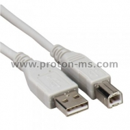Printer cable, USB A to B, 1.10 m