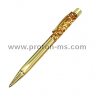 1.0mm Luxury Ballpoint flow oil crystal Gold foil Metal Copper