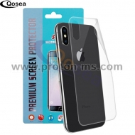 Скрийн протектор за iPhone X 10, Ултратънък Back Screen Protector 3X Clear LCD Guard Shield Film Skin Ultra thin