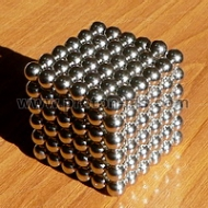 Magnetic Balls (spheres), Neo Cube, Zen Magnets, Neo Spheres, 216 pcs., Red, 5mm