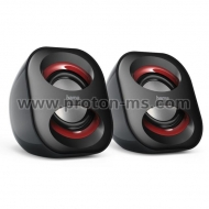 "Notebook Speaker ""Sonic Mobil 183"" 173131, 2.0, black/red"
