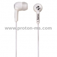 "Слушалки HAMA ""Basic4Music"", In-Ear, 1.2 m, Бял"