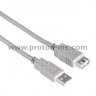 USB 2.0 Extension cable HAMA 30618 USB-A Socket - USB-B Plug, 3 m, Standart