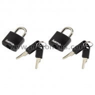 Brass Padlock 20mm BRASS 601-20KA2 2 pcs., Black