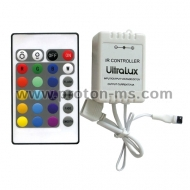 RF Music Controller for RGB LED Lights, 6A, 12-24V DC, 72W