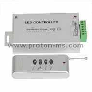 RF Controller for RGB LED Lights 144W, 12A, 12-24V DC