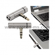 Notebook Mini Microphone HAMA, 3.5mm, Silver
