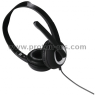 Headphones HAMA-53982/51616, Essential HS-300, Black