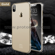 Силиконов Кейс за iPhone X Bling Diamond Soft Transparent