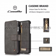Луксозен Кожен Калъф CaseMe 2 in 1 Luxury Leather Magnetic Wallet Case for iPhone X Flip Cover With Card Holder Phone Bag