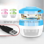 Уред против насекоми 220V 5W USB Charge Mosquito Killer Light Smart Optically Controlled Safety Insect Killing Lamp