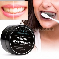 Прах за избелване на зъби Teeth Whitening Powder Organic Charcoal Bamboo Natural Tooth Oral Care