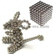 Magnetic Balls (spheres), Neo Cube, Zen Magnets, Neo Spheres, 216 pcs., Silver, 5mm