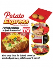 Potato Express Microwave Potato Cooker