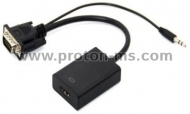 VGA to HDMI Converter with Audio Support, VGA to HDMI Converter with 3.5mm Audio/
