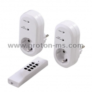 Radio-Controlled Power Outlet Set with Remote Control HAMA 121949, 3500W