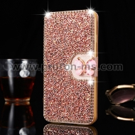 iPhone X Luxury Bling Diamond Rhinestone Flip PU Leather Wallet Case Cover