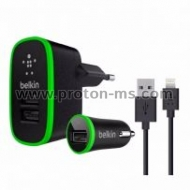 Micro USB Charger, 12V, 220V, Belkin for iPhone and iPad