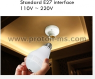 Light Bulb V380 S WI-FI CCTV Panoramic Security Camera