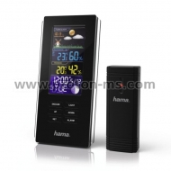 "Electronic Weather Station HAMA ""Color Edge"", Black"