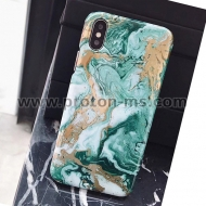 iPhone X LACK Hard Marble Phone Case For Retro ins Style Art Oil Painting Cover Smooth Cases Capa
