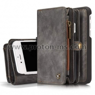 iPhone X CaseMe 2 in 1 Luxury Leather Magnetic Wallet Case Flip Cover With Card Holder Phone Bag