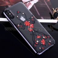 Луксозен Ултра Тънък Кейс за iPhone 7 / 7S Luxury Phone Case Ultra Thin Slim Cover Fashion  KINGXBAR Swarovski Crystals