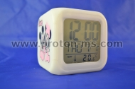 Growing LED Color Change Digital Alarm Clock