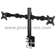"Hama FULLMOTION Monitor Arm, for 2 screens, 66 cm (26""), 2 arms each, black"