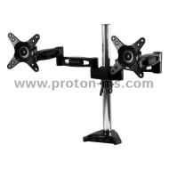 "Desk Mount Dual Monitor Arm ARCTIC Z2 PRO, 13""-27"", 10 кг, 4-Ports USB 3.0 Hub, Black"