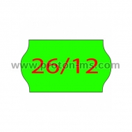 Labels for Marking Pliers 26x12 mm with 1 Perforation, Green