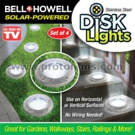 Solar LED Multicolor Disk Lights, 4 discs