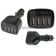 USB Car Charger 12V 4 Port USB