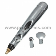 W-912 Massager Pen, Electronic Acupuncture Pen, Silver