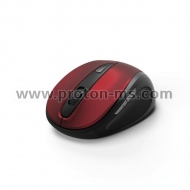 "Hama ""MW-400"" Optical 6-Button Wireless Mouse, red/black"