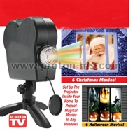Christmas Halloween LED Window Movie Display Projector Effect Light 12 Movies Showing on Window Perfect For Holiday Decoration